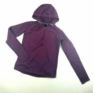 Womens Columbia Purple Half Zip Pullover Hoodie